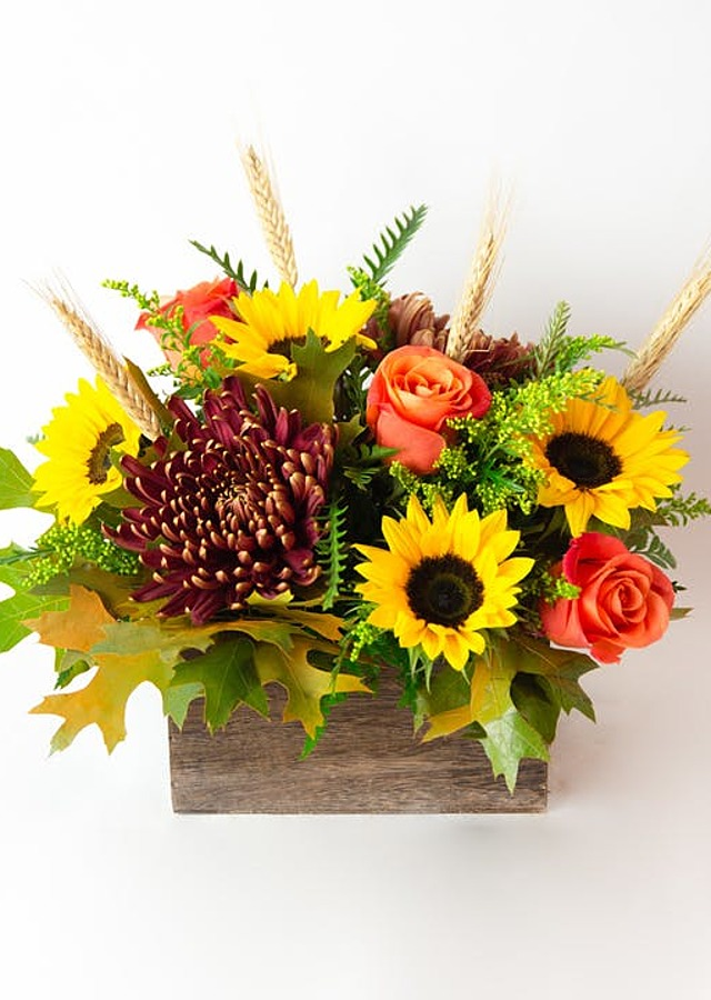 Display of Golden Harvest by The Flower Alley