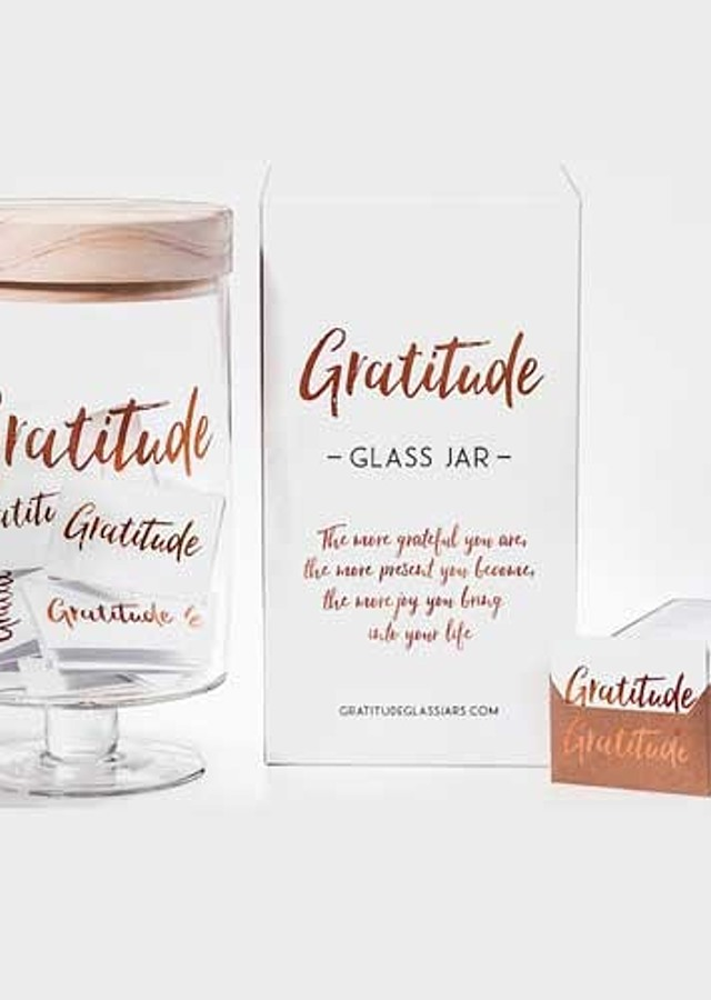 Display of Gratitude Glass Jar by The Flower Alley