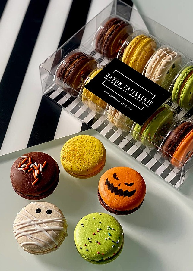 Display of Halloween Macaron (10) by The Flower Alley