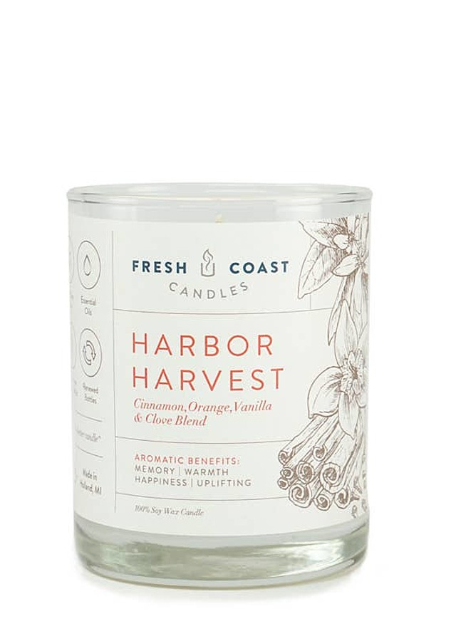 Display of Harbor Harvest Candle by The Flower Alley