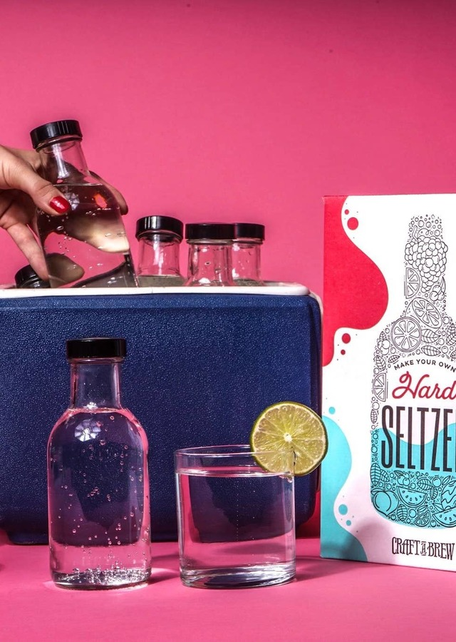 Display of Hard Seltzer Kit by The Flower Alley