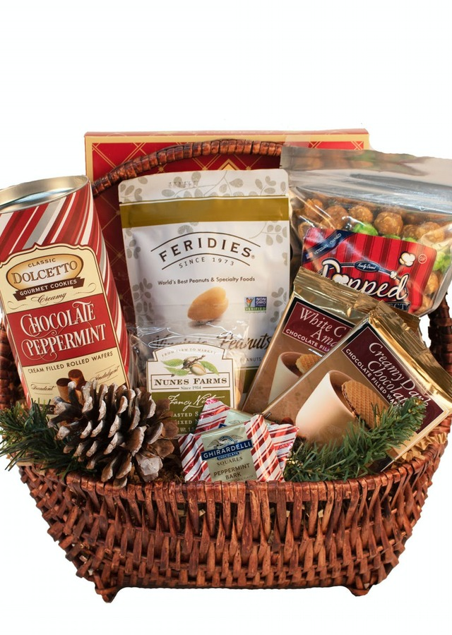 Holiday Gourmet Basket by The Flower Alley