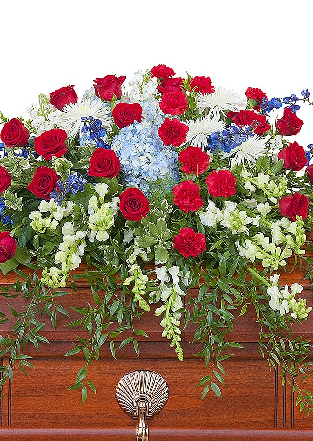 Display of Honor Casket Spray by The Flower Alley