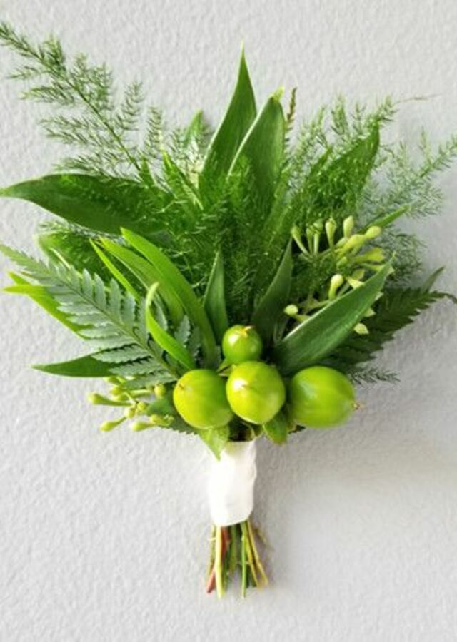 Display of Lovely Greens: Boutonniere by The Flower Alley