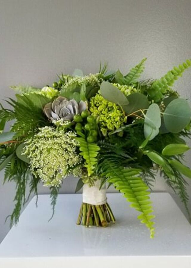 Lovely Greens: Medium Bouquets by The Flower Alley
