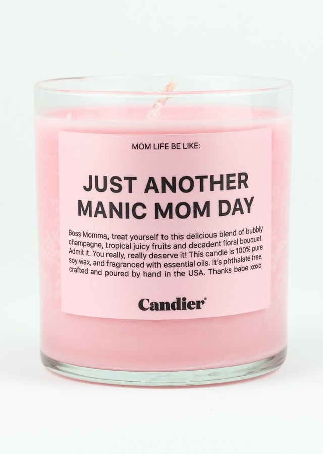 Display of Maniac Mom Day Candle by The Flower Alley
