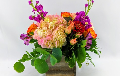 Display of Michigan Woodland Bouquet by The Flower Alley