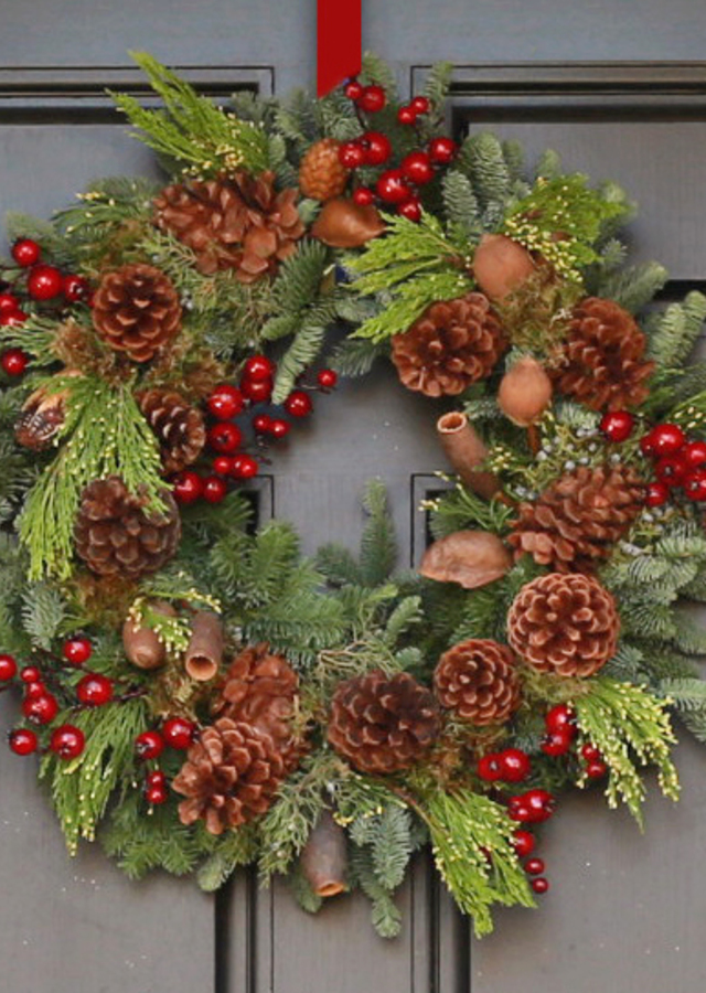 Natural Luxury Holiday Wreath by The Flower Alley