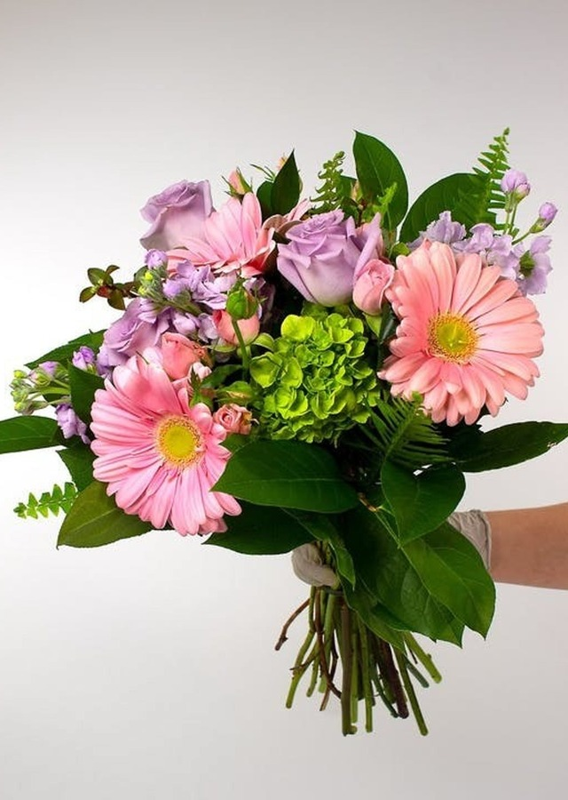 Display of Pastel Wrapped Bouquet by The Flower Alley