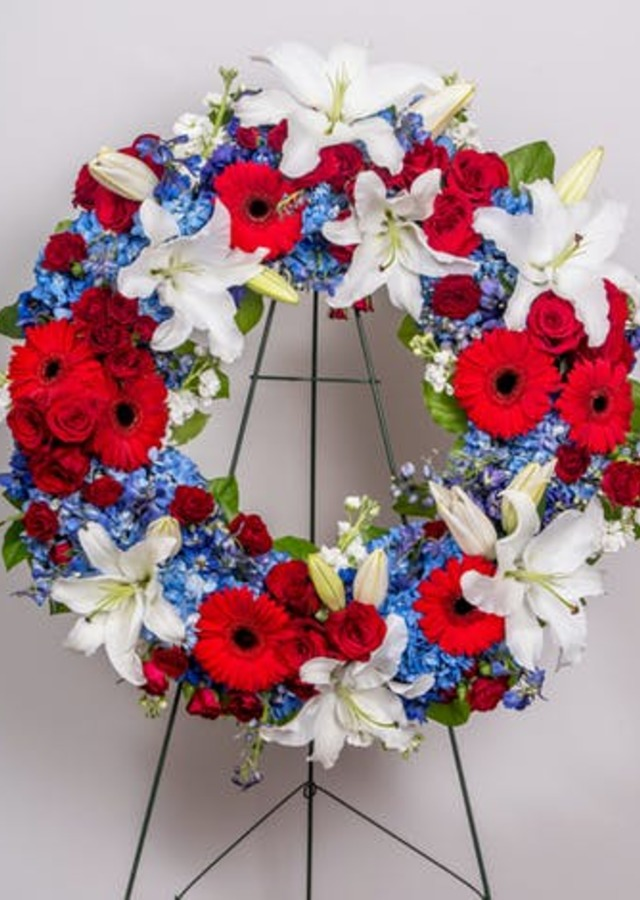 Patriotic Standing Wreath by The Flower Alley