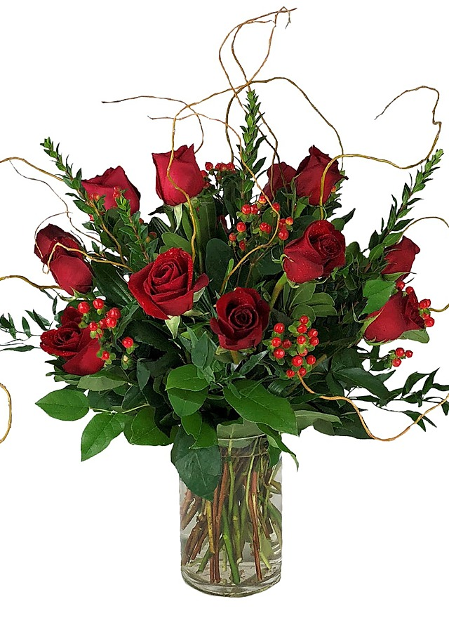 Display of Premium Long Stem Roses by The Flower Alley