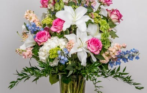 Display of Pretty in Pastels by The Flower Alley