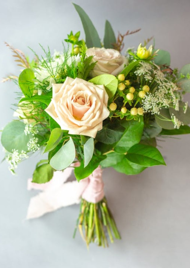 Pretty & Petite : Hand Held Bouquet by The Flower Alley