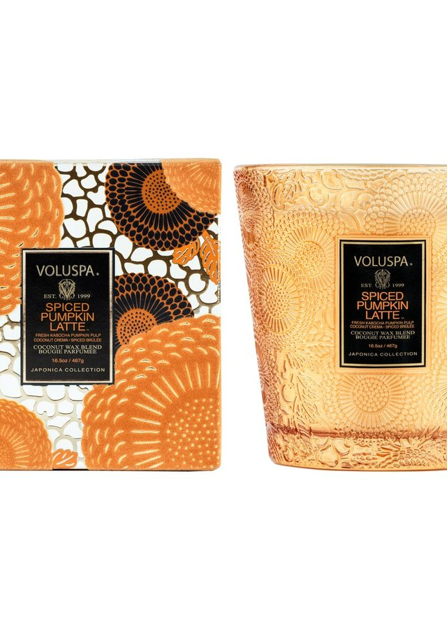 Display of Pumpkin Spice Latte 2 Wick Hearth by The Flower Alley