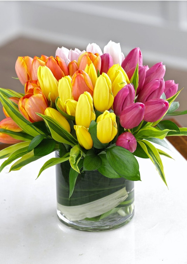 Display of Radiant Spring Tulips by The Flower Alley