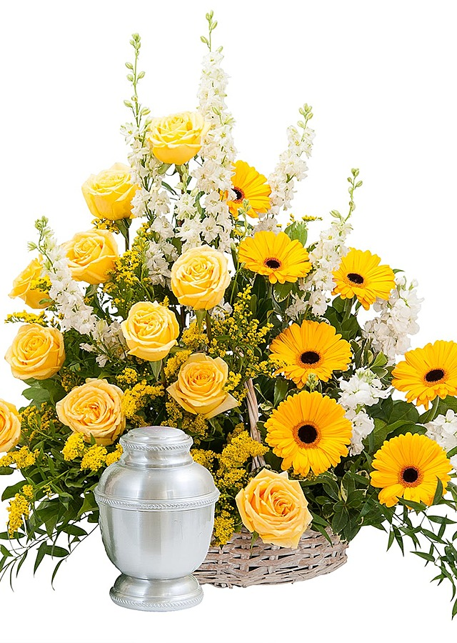 Display of Ray of Sunshine Basket by The Flower Alley