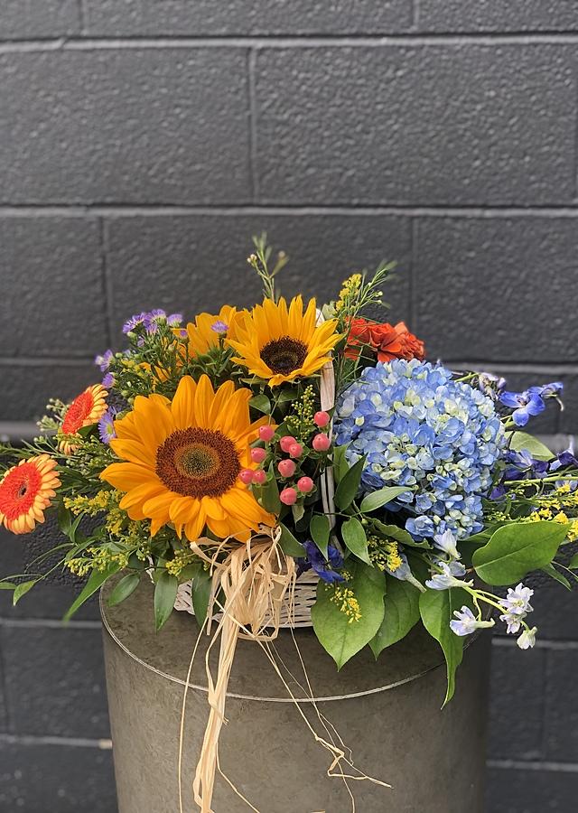 Seasonal Basket by The Flower Alley