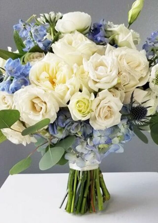 Display of Something Blue: Large Bouquet by The Flower Alley