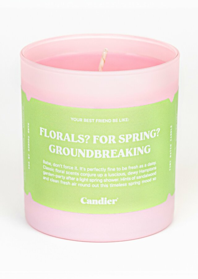 Display of Spring Florals Candle by The Flower Alley