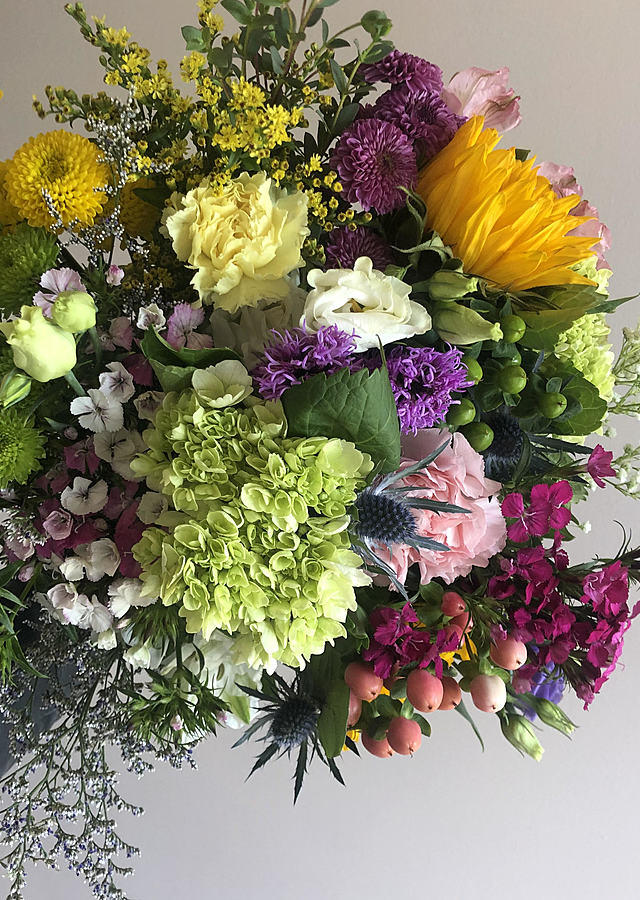 Display of Fresh Flower Bouquet by The Flower Alley