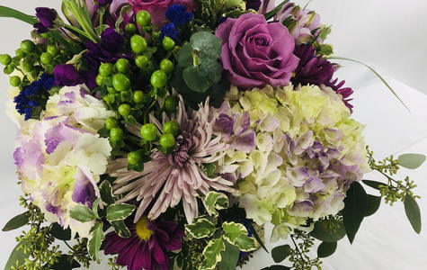 Display of Natural Elegance Bouquet by The Flower Alley