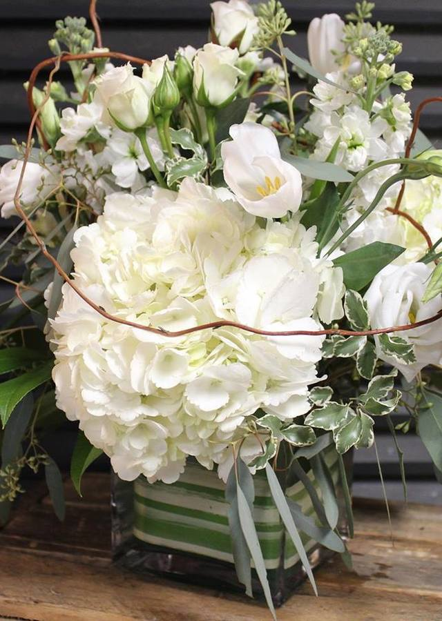 Display of Premium White Designer's Choice by The Flower Alley