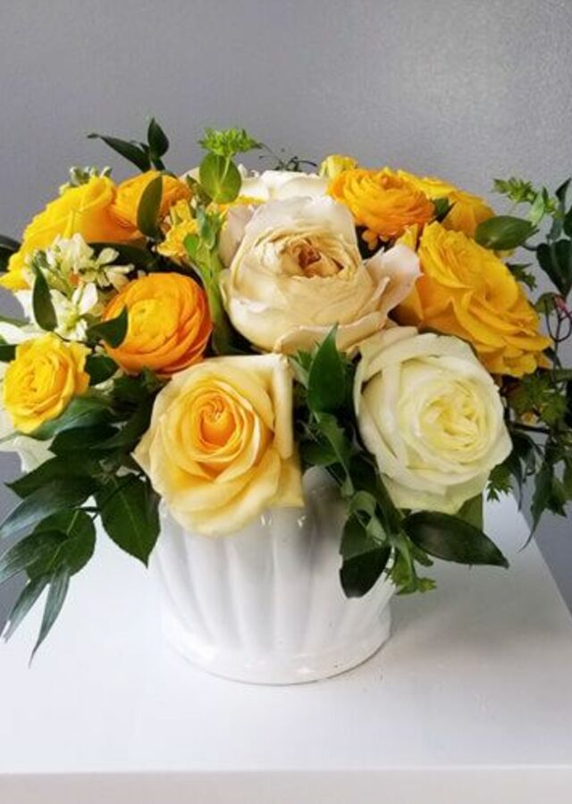Sunshine Collection: Medium Centerpiece by The Flower Alley