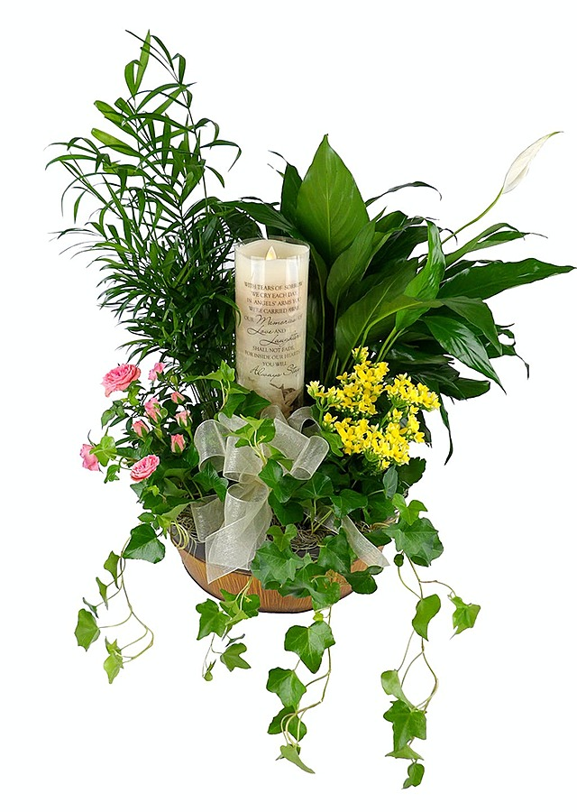 Sweet Memories Garden Planter for Faux Candle by The Flower Alley
