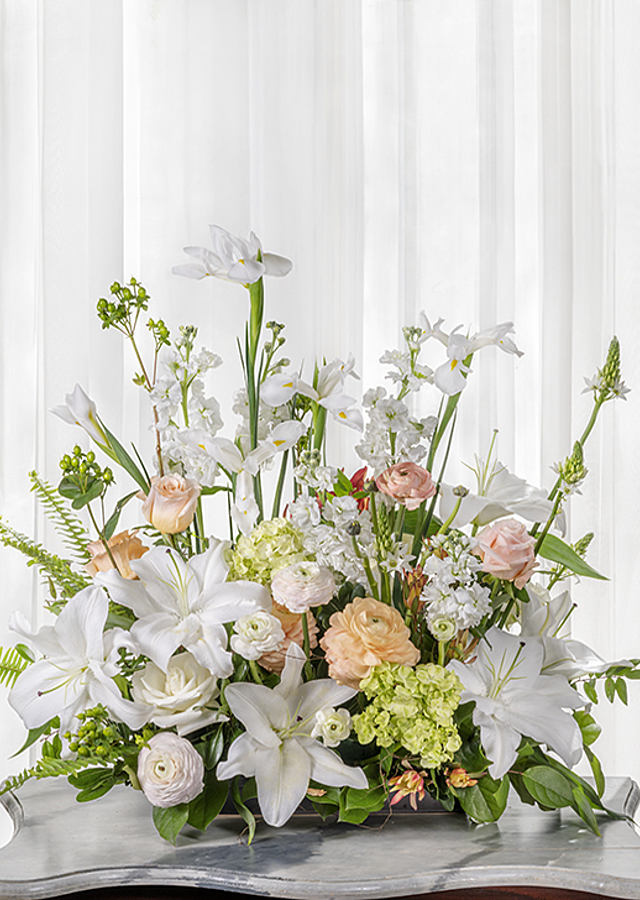 Display of Sympathy 'Growing Garden' Flower Arrangement by The Flower Alley