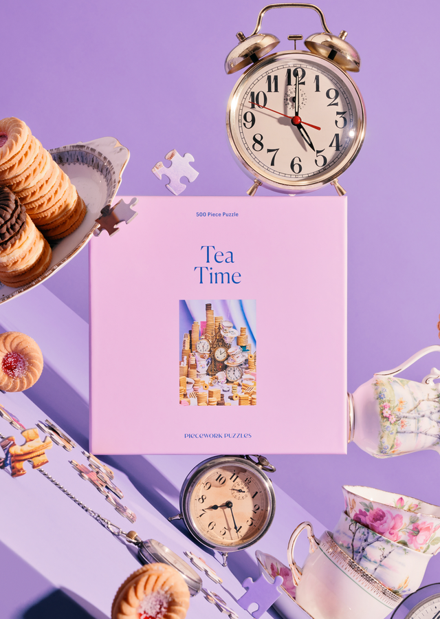 Display of Tea Time 500p Puzzle by The Flower Alley