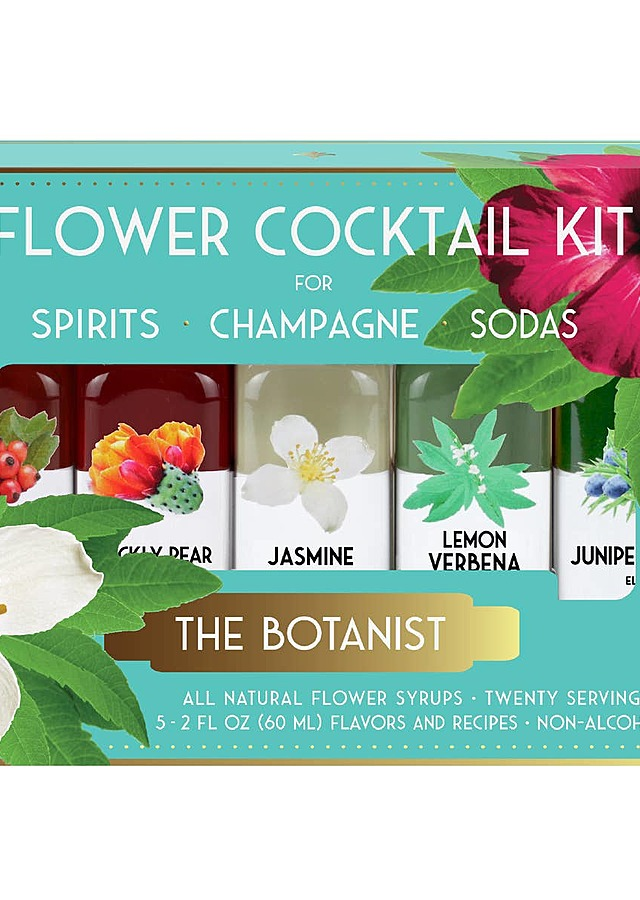 Display of The Botanist Cocktail Kit by The Flower Alley