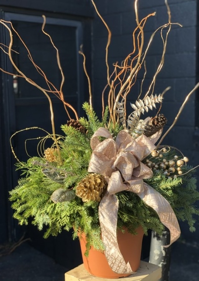 """The Merriest - 12"""" Porch Pot by The Flower Alley"""