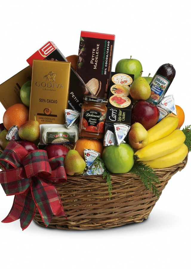 The Ultimate Holiday Basket by The Flower Alley