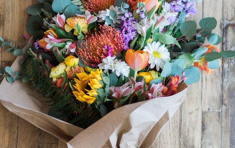 Display of This Season's Best Designer's Choice Loose Bouquet by The Flower Alley