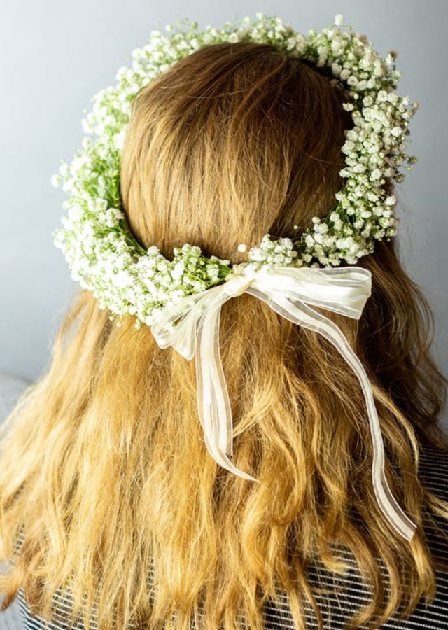 Display of Traditional Flower Crown by The Flower Alley