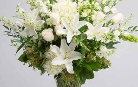 Display of Tranquil Whites by The Flower Alley