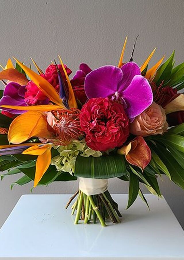 Display of Tropical Collection: Large Bouquet by The Flower Alley