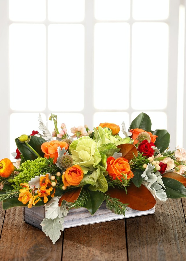 Tuscan Harvest Centerpiece by The Flower Alley