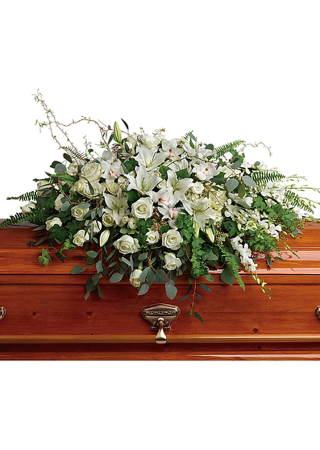 Display of Unforgettable : Casket Spray by The Flower Alley