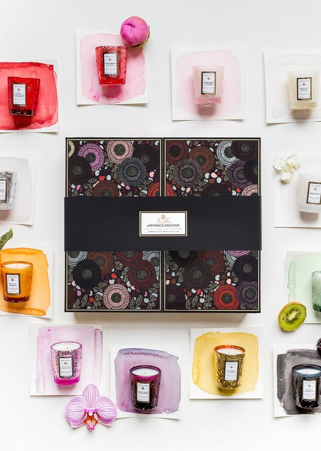 Display of Voluspa 12 VOTIVE GIFT SET by The Flower Alley