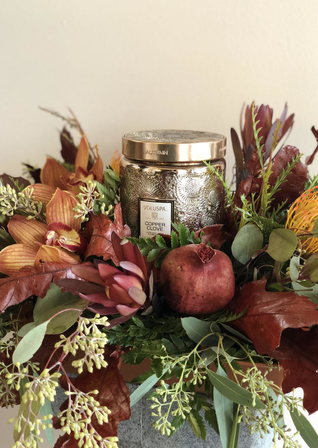 Voluspa Fall Centerpiece by The Flower Alley