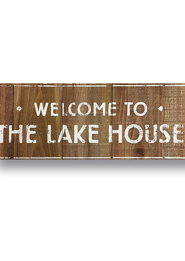 Display of Welcome to the Lakehouse by The Flower Alley