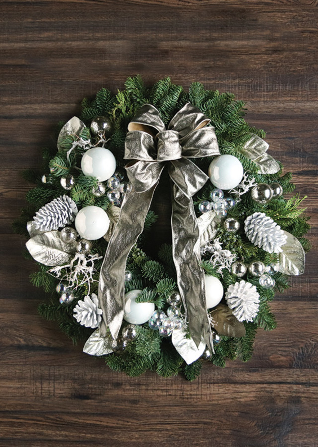Winter White Wreath by The Flower Alley