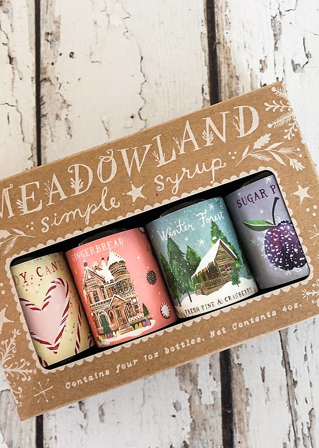 Display of Wonderland Collection: Holiday Simple Syrup Sampler by The Flower Alley