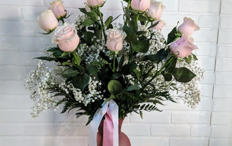 Display of You Make Me Blush Dozen Rose Bouquet by The Flower Alley